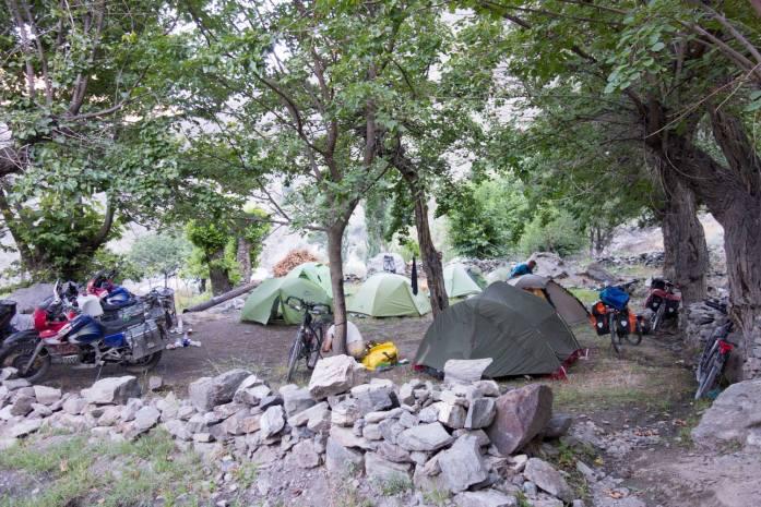 A pretty communal camping spot!