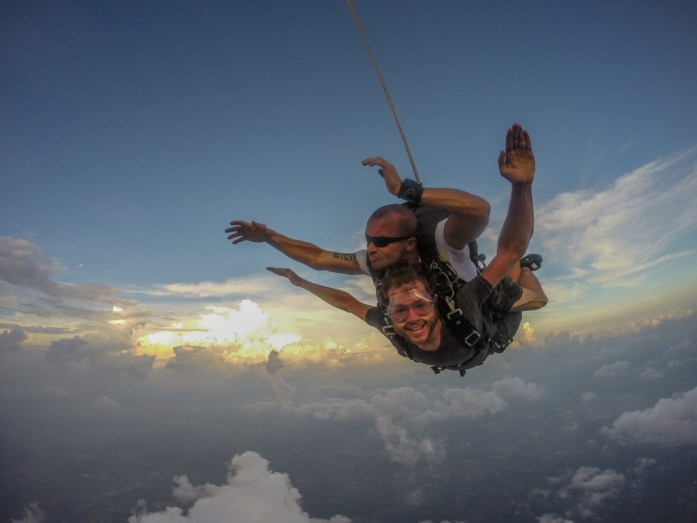Tandem Skydiving in freefall in Si Racha with Thai Sky Adventures in Thailand