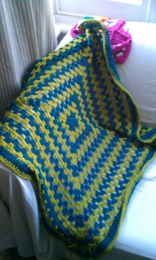 Square Blanket 55% wool. £35.