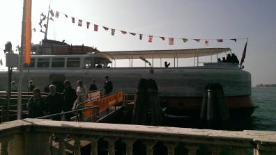 Portugese boat, tiled with images of Lisbon