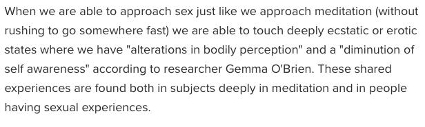 sex, orgasms, meditation