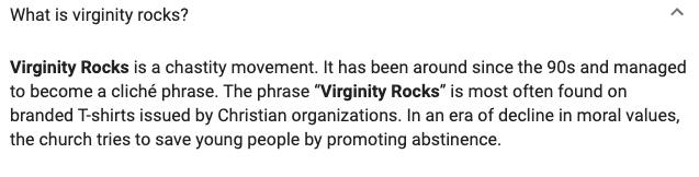 virginity rocks, virginity, morality