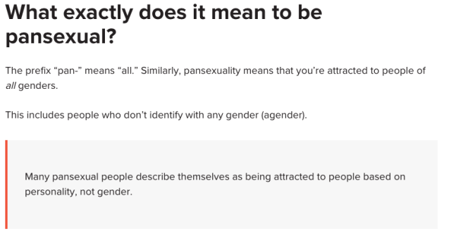 pansexual, sexuality
