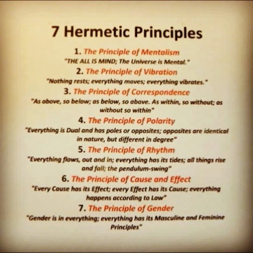 Hermetic Principles, Universe, innuendo
