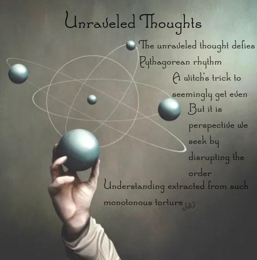 thinking, thoughts, backwards thinking, unravelling