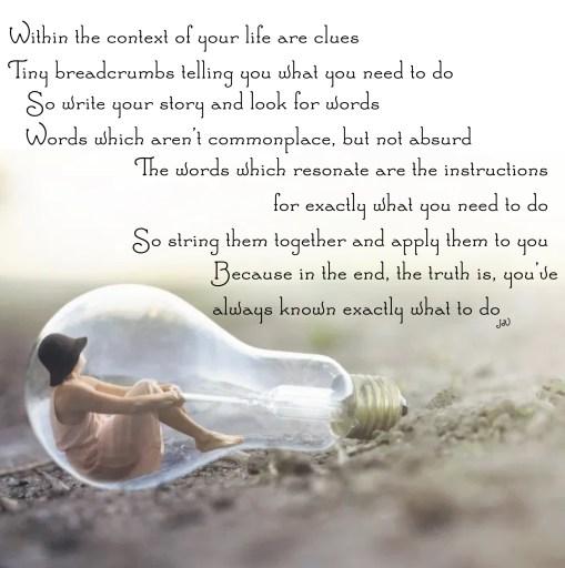 life, clues, secret of life, opinions, wisdom