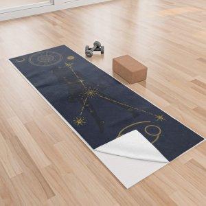 yoga towel, yoga, meditation, zodiac, cancer, astrology