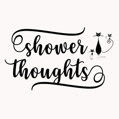 shower thoughts, meditation, manifesting, mindfulness