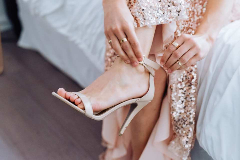 Whimsical wedding style bridesmaids dress details by Josie V Photography