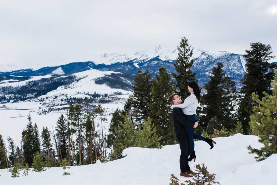 Editorial Winter Colorado Engagement Session by Josie V