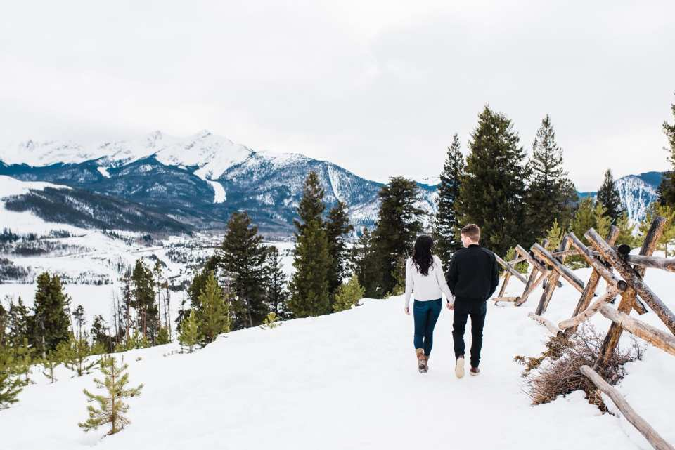 Romantic winter engagement photos by Josie V