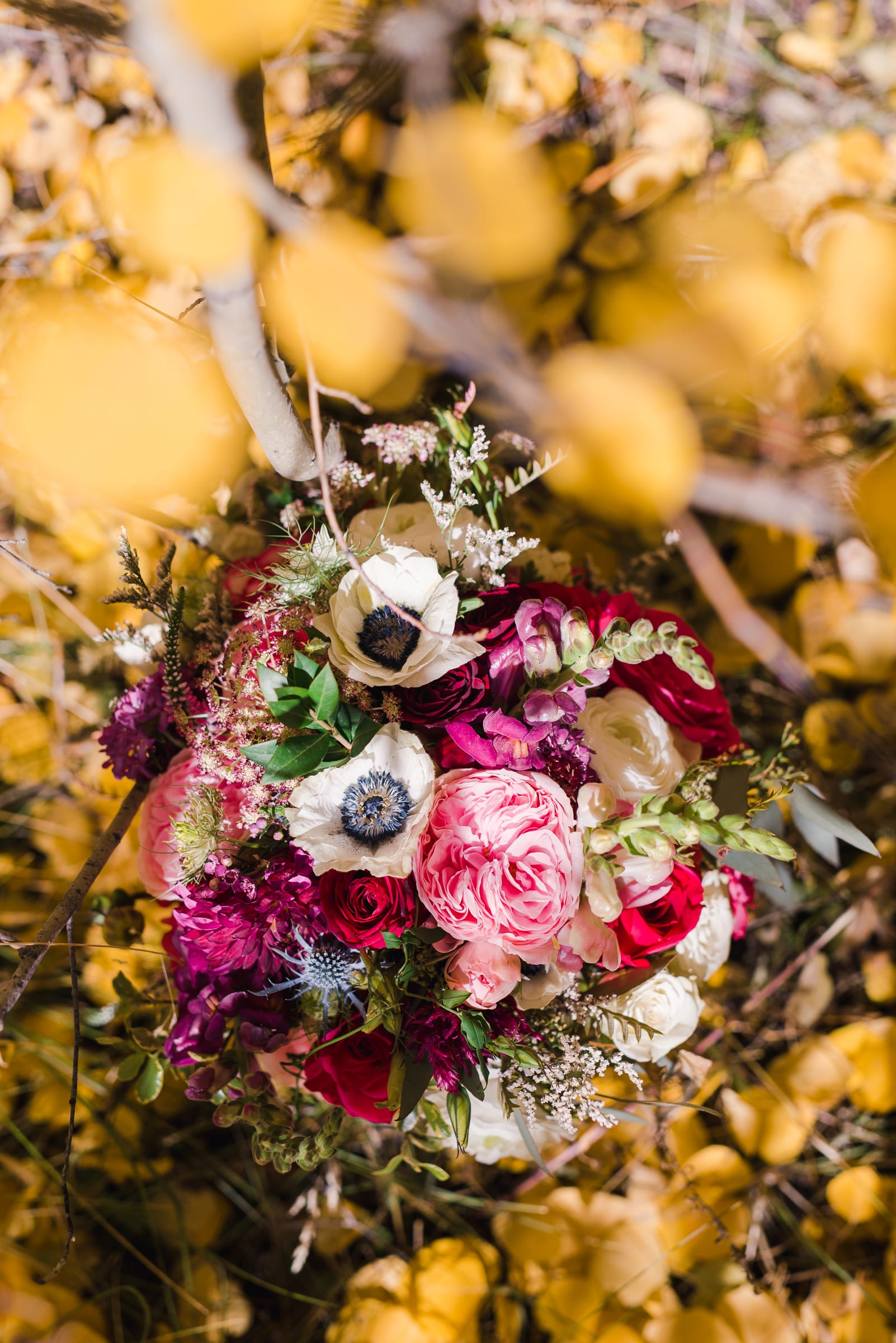 Colorful, unique wedding bouquet by Deborah Harris | Josie V Photography