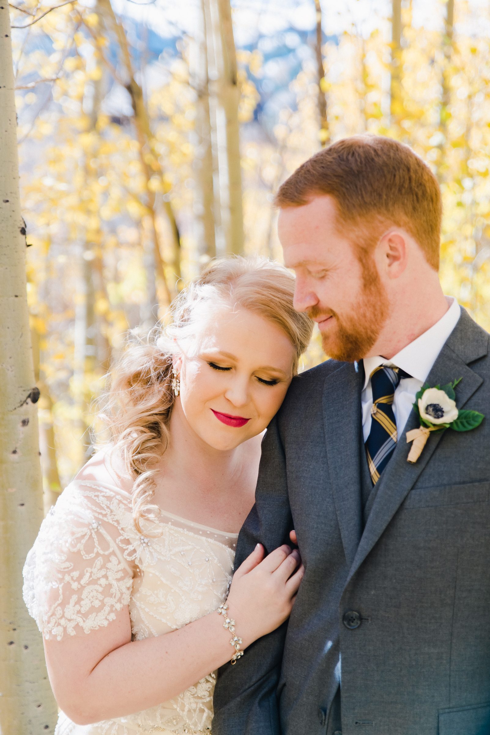 Fall Mountain Wedding at the Breckenridge Nordic Center | Josie V Photography