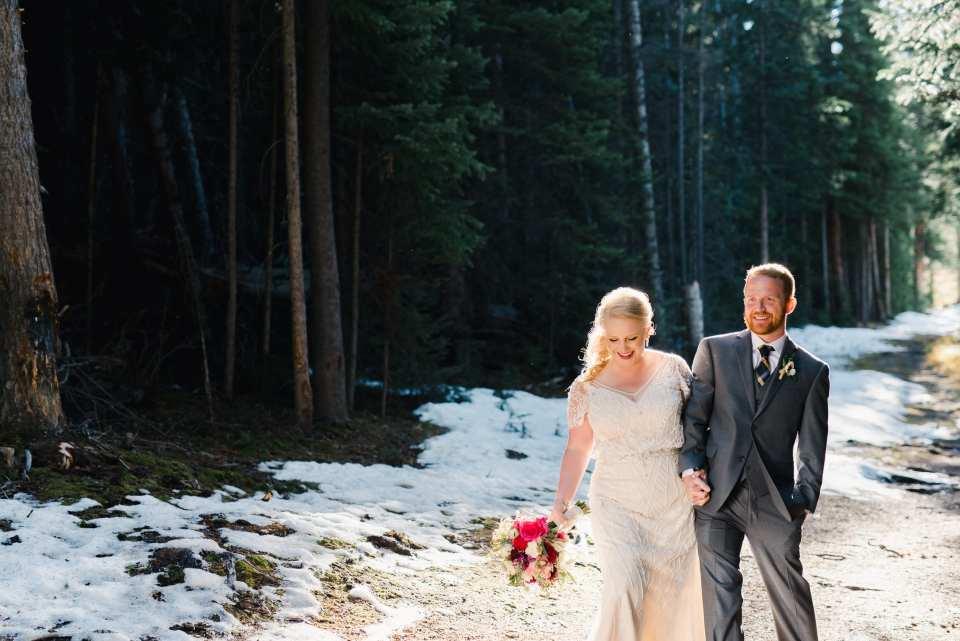 Mountain Wedding Couple Photos | Josie V Photography