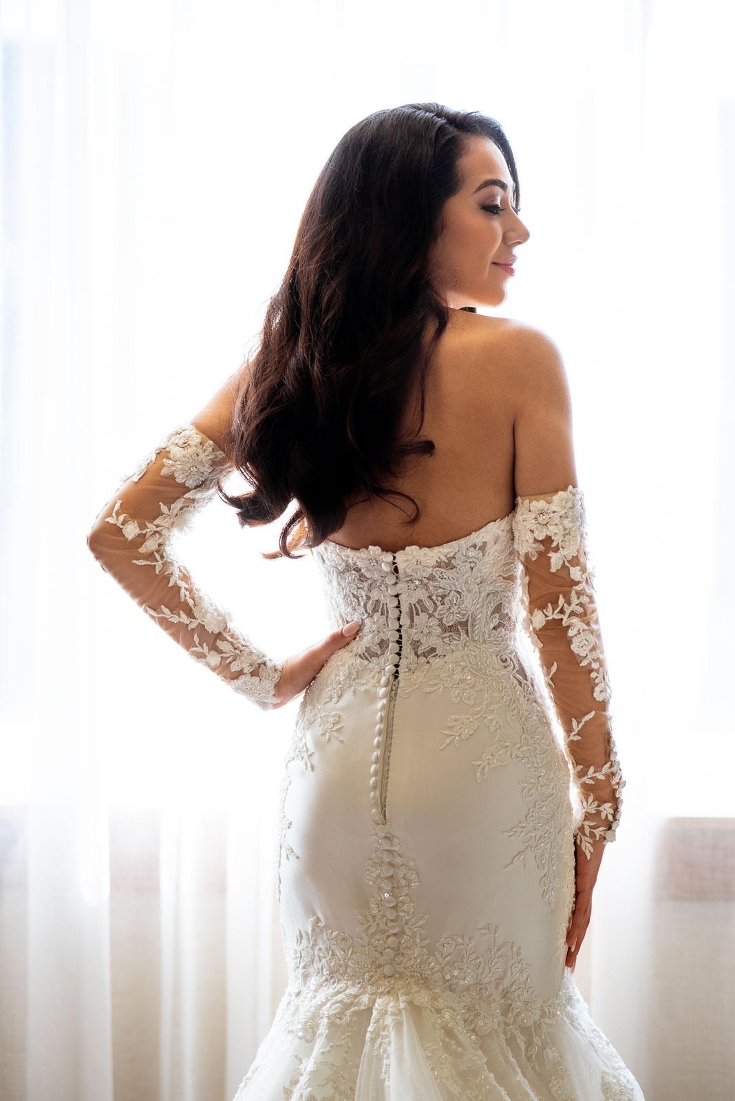 Getting Ready Wedding Photos Wedding Dress | Josie V Photography