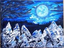 Blue moon, 30x40 cm