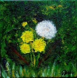 Dandelions, 20x20 cm
