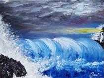 Sea storm 30x40 cm