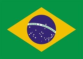 A bandeira do Brasil.