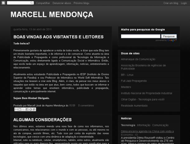 Blog do Marcell Mendonça.