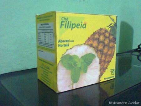 A nova versão da caixa do Chá Filipeia.