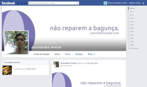 Facebook Josivandro Avelar- Maio de 2013
