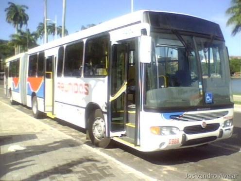 Reunidas 0888, um dos três ônibus articulados que serão entregues amanhã na Estação Ciência.