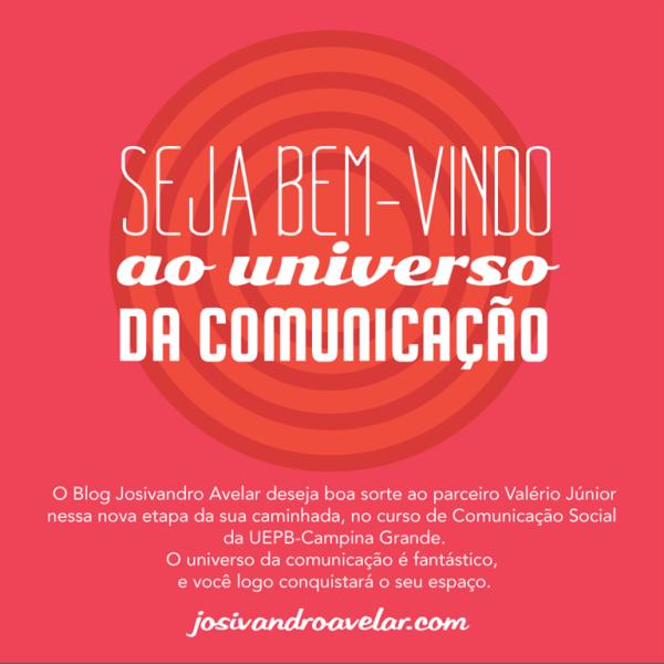 BEM-VINDO AO UNIVERSO DA COMUNICAÇÃO