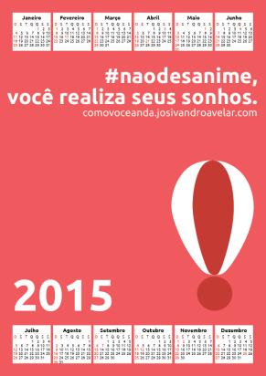 calendário como você anda 2015