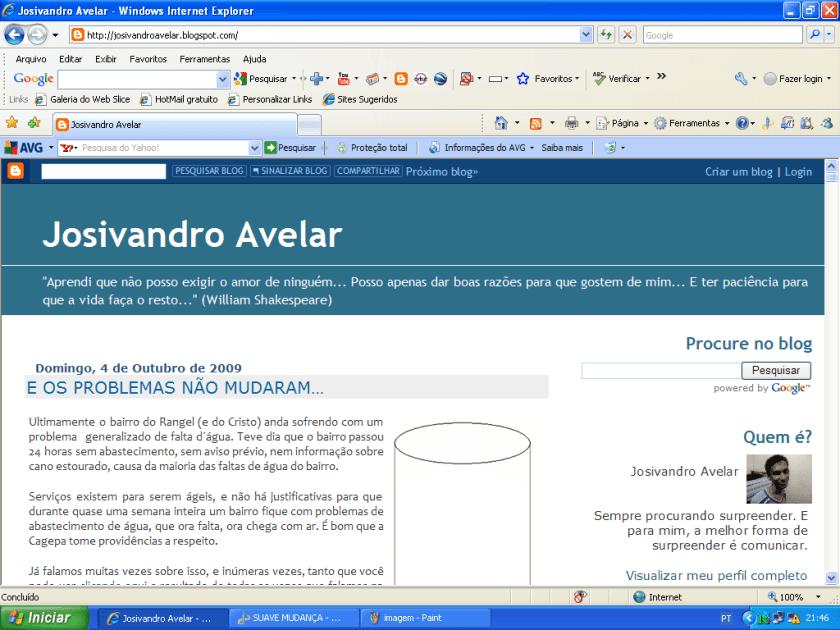 Blog Josivandro Avelar- outubro de 2009