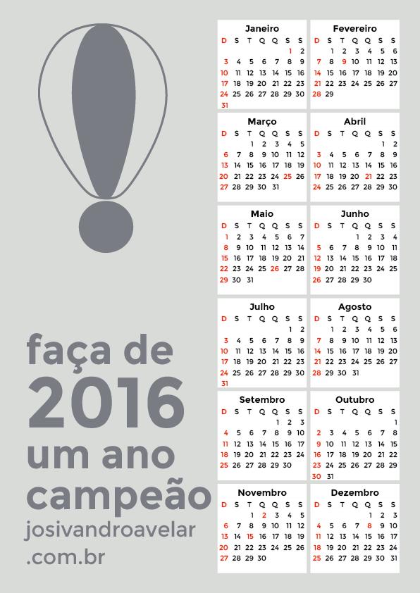 calendário 2016 12