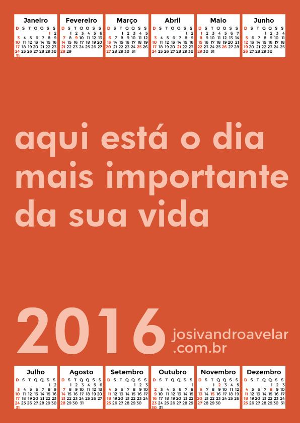 calendário 2016 40