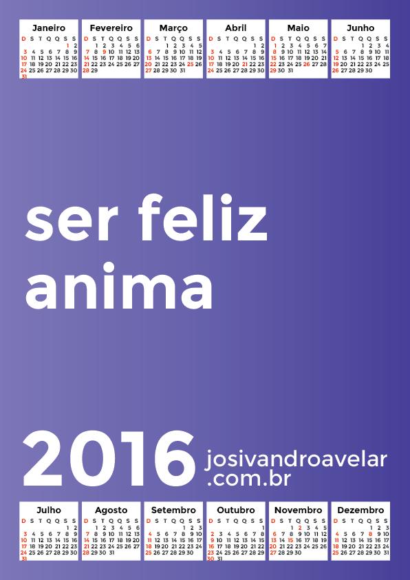 calendário 2016 52