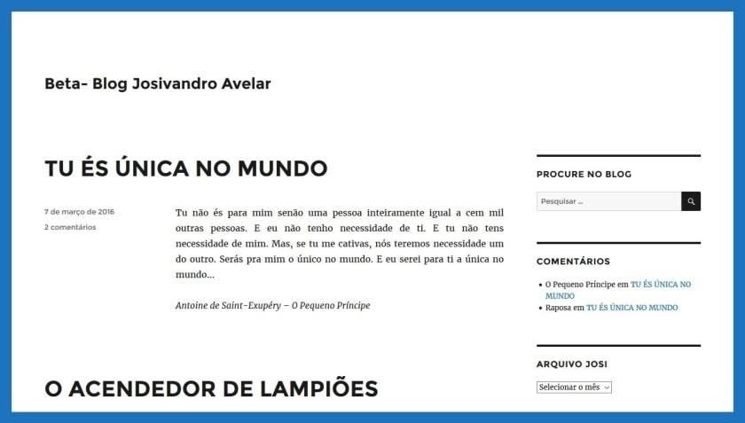 Beta do Blog Josivandro Avelar- Março de 2016