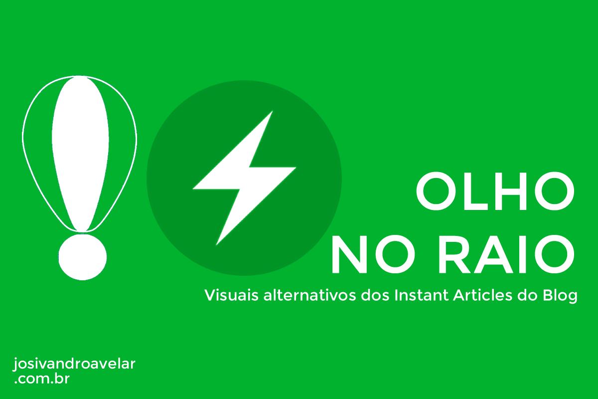 OLHO NO RAIO, E NAS DIVERSAS FORMAS DE APRESENTAR O CONTEÚDO