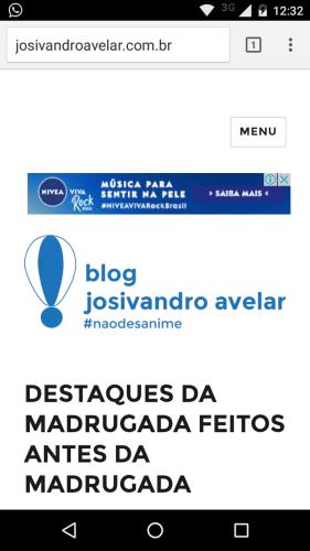 O Blog Josivandro Avelar como ele realmente é nos celulares.