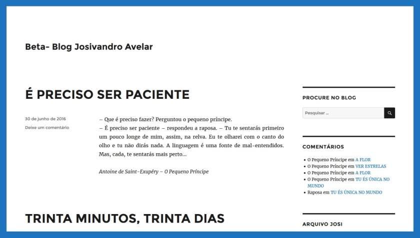 Beta do Blog Josivandro Avelar.