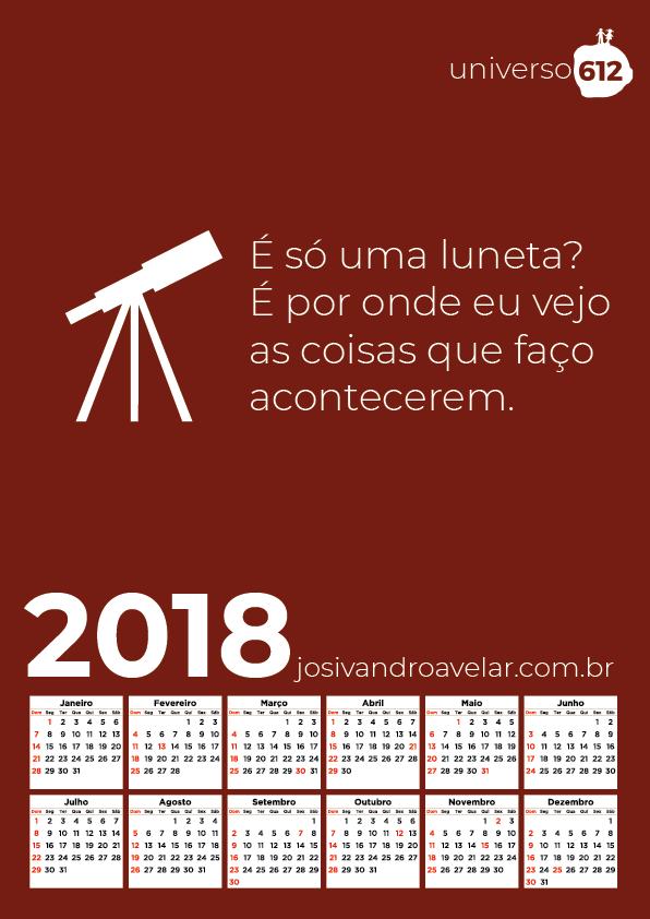 CALENDÁRIO 2018 COLORS 8