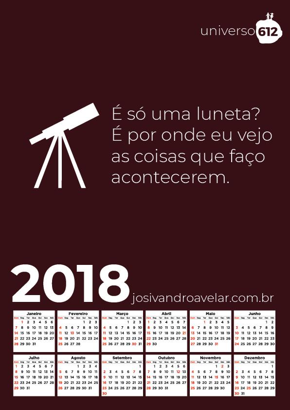 CALENDÁRIO 2018 COLORS 9