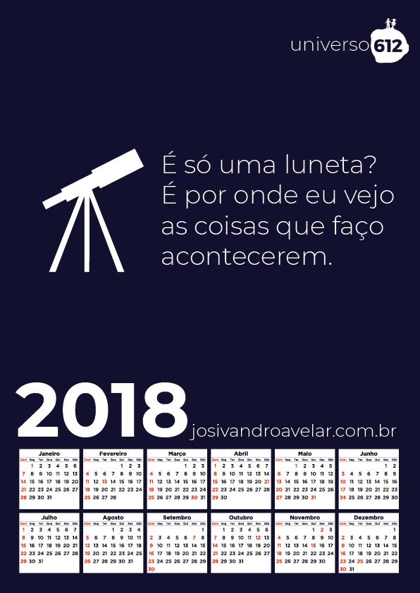 CALENDÁRIO 2018 COLORS 12