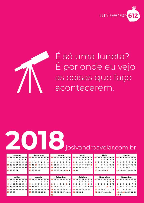 CALENDÁRIO 2018 COLORS 25