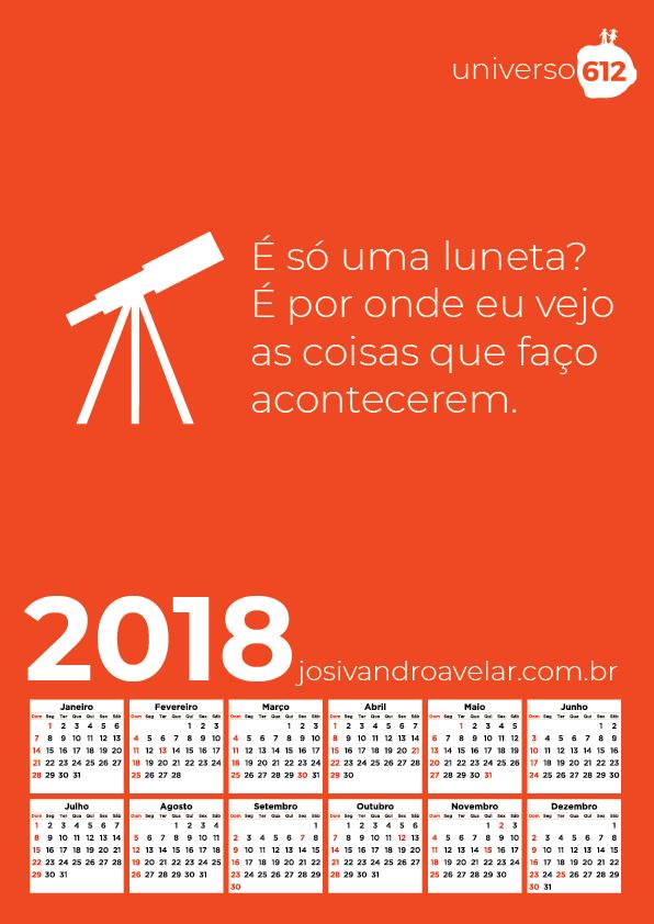 CALENDÁRIO 2018 COLORS 2