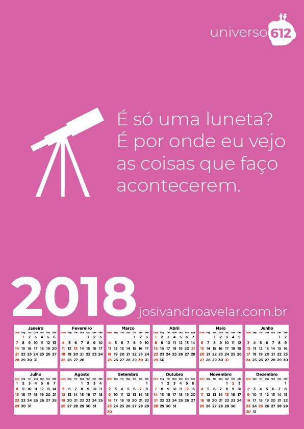 CALENDÁRIO 2018 COLORS 6
