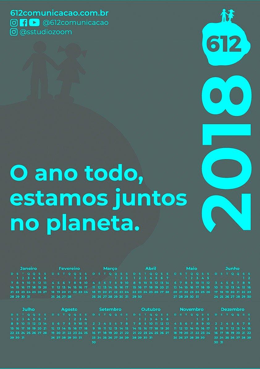 CALENDÁRIO 2018 COLORS 612 4