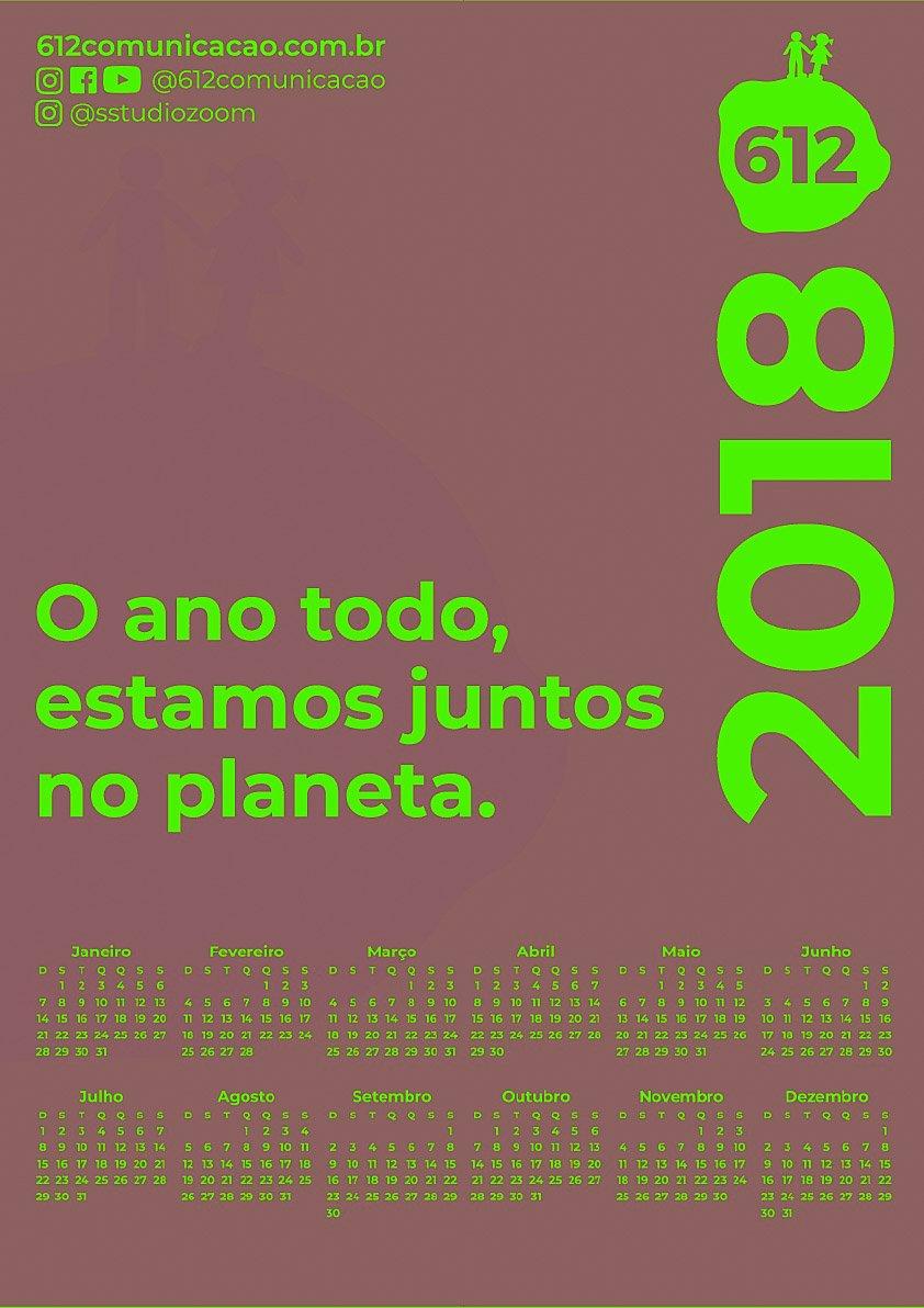 CALENDÁRIO 2018 COLORS 612 6