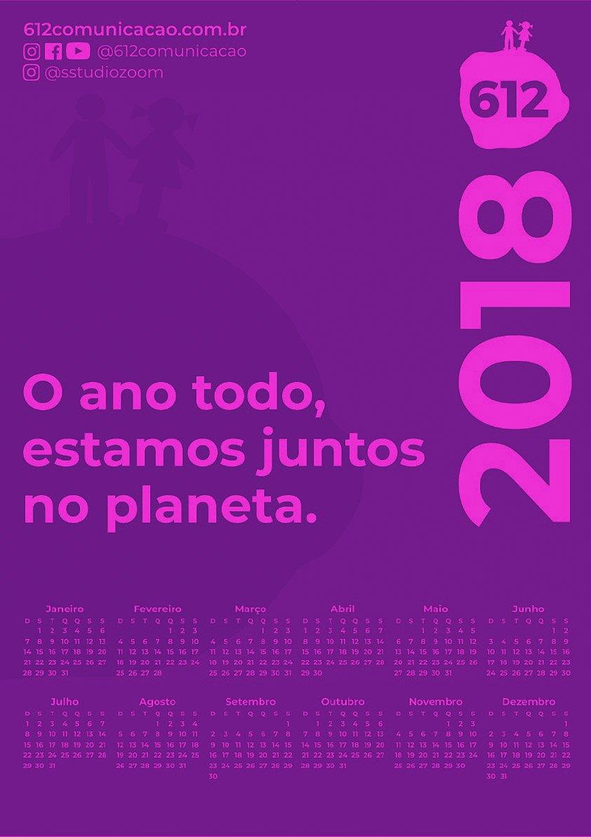 CALENDÁRIO 2018 COLORS 612 2