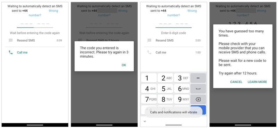 Prints do WhatsApp mostrando a verificação do número do telefone. Fim da descrição.