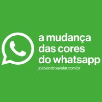 A mudança das cores do WhatsApp