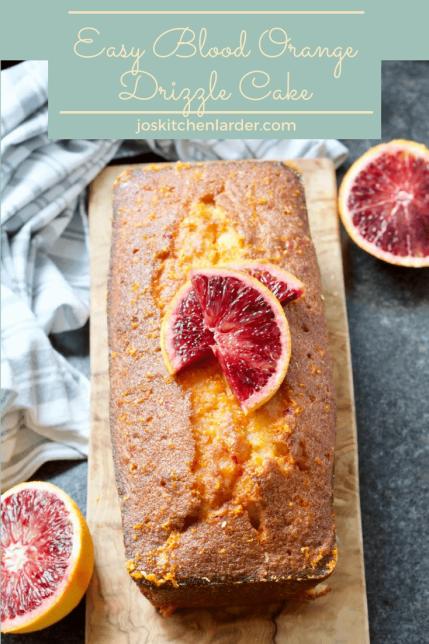 Easy Blood Orange Drizzle Cake