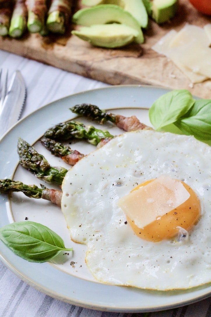 Pancetta Wrapped Asparagus Soldiers with Fried Egg